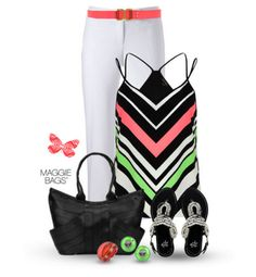 Outfit of the Day: Bright Bold. Made with ♥ by Maggie Bags on #Polyvore #MaggieBags #handbags #purses #fashion #ootd