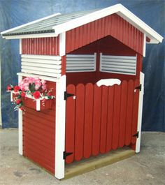 Roskakatos Garden Structures, Outdoor Structures, Dream Garden, Home And Garden, Can Storage, Curb Appeal, Pergola, Shed, Woodworking