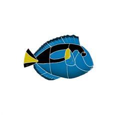 Fish :: Regal Tang - Blue Water Pool Mosaics