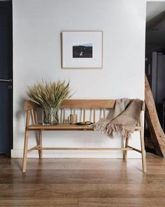 Editor obsession: hk living's wooden bench rue entryway bench, bench decor, Bench Decor, Wall Decor, Foyer Decorating, Interior Decorating, Entryway Decor, Bedroom Decor, Entryway Bench, Entryway Ideas, Entryway With Bench