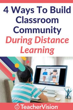 Distance learning can make it tricky to build community. But, it's not impossible. Here's how to connect with your students even if it's in a virtual classroom setting. #distancelearning #virtual #remote