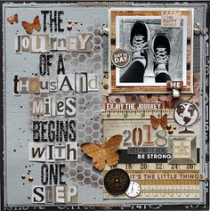 """Join 11 people right now at """"January Kit - Kaisercraft Documented"""" Vacation Scrapbook, Baby Scrapbook, Scrapbook Pages, Scrapbook Sketches, Scrapbooking Layouts, Think Happy Thoughts, Travel Memories, Craft Party, Traveling By Yourself"""