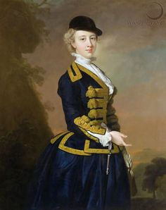 Cry, again, I can't find out where this thing is currently.  It is purportedly a portrait of Nancy Fortescue, done by Thomas Hudson, c. 1760.  That great jockey cap shows up again.