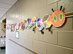 The Very Hungry Caterpillar .  Inexpensive way to create art for Pre-k through 1st grade.  Paper plates, who would have thought.  7315