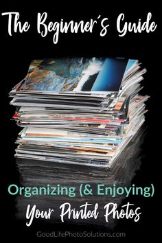 The Beginner's Guide to Organizing (And Enjoying) Your Printed Photos - Good Life Photo Solutions Photo Album Storage, Picture Storage, Foto Fun, Hand Photo, Photo Memories, Photo Projects, Life Photo, Print Pictures, Diy