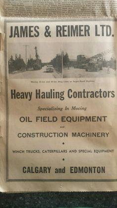 James &Reimer 1953 James Reimer, Oil Field, Oil Rig, Big Trucks, Rigs, History, Vintage, Wedges, Historia