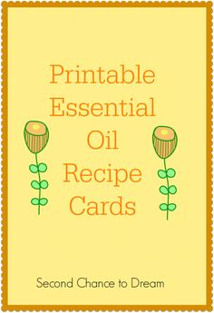 Are you in love with essential oils? I have created some Printable Essential Oil Recipe cards for you to use with your handmade gifts.