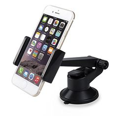 Lanktoo Car Mount Holder, Universal Cradles Windshield Dashboard for iPhone 6 6s 5 - http://complementoideal.com/producto/tienda-socios/lanktoo-car-mount-holder-universal-cradles-windshield-dashboard-for-iphone-6-6s-5-5s-5c-plus-samsung-galaxy-s7-edge-s6-s5-s4-note-5-4-htc-sony-xperia-z3-z4-z5-moto-g-gps/