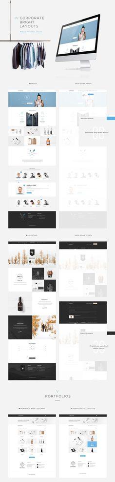 時尚簡潔 網頁設計模板 | MyDesy 淘靈感
