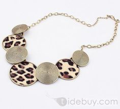 Charming Leopard Golden Alloy with Lady's Necklace(more colors) : Tidebuy.com