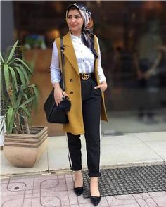 vest with dressy pants-Girly chic hijab collection – Just Trendy Girls