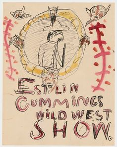 Two Childhood Drawings from Poet E.E. Cummings Show the Young Artist's Playful Seriousness