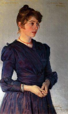 Marie Triepcke Krøyer Alfvén 1867-1940. Painted by P.S. Krøyer.