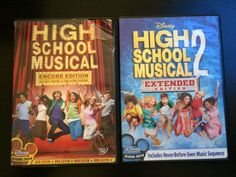 Lot of 2 Disney High School Musical - 1 and 2 - Encore Edition DVD 1 2