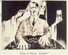 """""""Time is Short, Adolph!"""", US 2nd World War Poster, c.1942 (litho)"""
