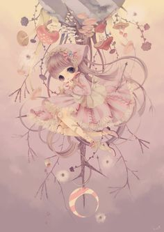 This one kind of looks surreal. The muted colors add a nice feeling to this piece. It's interesting how some of the picture is drawn upside down, but the girl is sitting on it like it is right side up.
