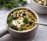 Greek Spinach and Feta Oatmeal Recipe Lunch Recipes, Meat Recipes, Vegetarian Recipes, Healthy Recipes, Healthy Meals, Meat Meals, Yummy Recipes, Eat Breakfast, Breakfast Recipes