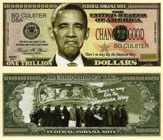 No Obama Trillion Dollar Bill
