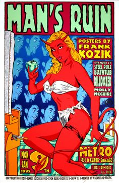 Steel Pole Bathtub Killdozer 1995 Original Concert Poster by Frank Kozik Signed #PopArt #kozik
