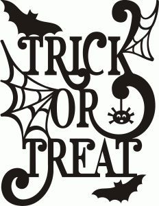 Image result for trick or treat ghost silhouette
