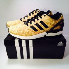 buy cheap d7e6e f91cd Men s Adidas Originals ZX Flux Black Gold White S76450 Size 10.5 in US    eBay