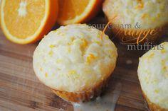 sour cream and orange muffins