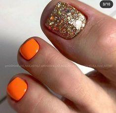 Toe Nails White, Glitter Toe Nails, Pretty Toe Nails, Cute Toe Nails, Gorgeous Nails, Pink Nails, Toe Nail Color, Nail Colors, Santa Nails
