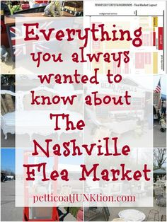 Everything You Always Wanted To Know About The Nashville Flea Market Petticoat Junktion answers your questions Dates hours directions market map and shopping tips in this. Nashville Flea Market, Nashville Vacation, Tennessee Vacation, Nashville Tennessee, Shopping In Nashville, Nashville Bars, Nashville Attractions, Tennessee River, Tennessee Whiskey