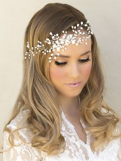 Bridal Forehead Headbands by Hair Comes the Bride