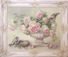 sweet shabby chic painting by the best rose painter I have ever seen!