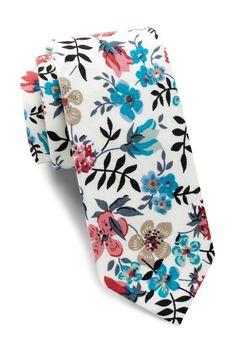Angelis Floral Cotton Skinny Tie by Original Penguin on @nordstrom_rack