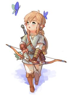 """syn-rb: """"botw link as a lalafell from FFXIV """""""