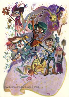 Brianne Drouhard (www.briannedrouhard.com), the author of Billie the Unicorn (www.billietheunicorn.com), an animator who likes to draw so much, so can't stop! A case in point, see http://potatofarmgirl.blogspot.com/.