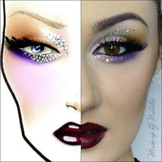 FaceChart – Makeup Geek - wow, this rendering of a face chart is insane!