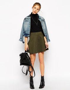 ASOS Circle Skirt in Texture