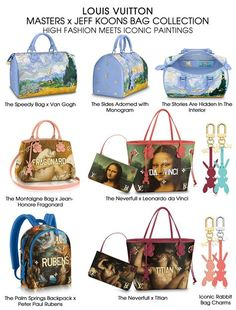 Louis Vuitton Masters x Jeff Koons Bag Collection
