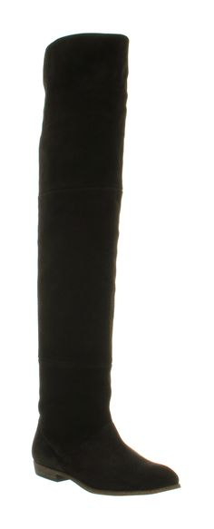 Office GOOD TIMES O/KNEE BOOT BLACK SUEDE Shoes - Womens Knee Boots Shoes - Office Shoes £110