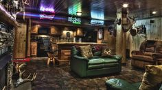 25 Best DIY Man Cave Ideas That'll Rock Your World 25 Ultimate man cave ideas you need to see! These man caves are completelty insane! Hopefully these man cave ideas inspire you! Man Cave Garage, Man Cave Shed, Man Cave Basement, Rustic Basement, Garage Bar, Basement Bars, Basement House, Garage Ideas, Diy Man