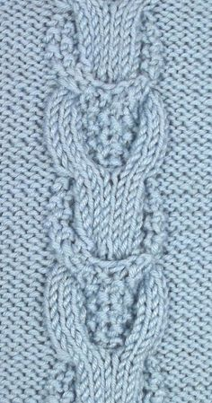 Moss Stitch Links is a great variation on the typical cable stitch. You'll find it in the Cables & Twisted Stitches category.