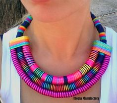 Sade Statement Necklace African Jewelry Gift by UtopiaManufactory