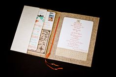 destination wedding invitation. LOVE this! Your guests have ALL the information they would need to be able to make a decision...