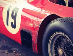 Lancia-Ferrari with battle scars in the Paddock at the 2011 Goodwood Revival. Vintage Sports Cars, Vintage Racing, Vintage Cars, Bugatti, Lamborghini, Bobber, Sport Cars, Race Cars, Harley Davidson