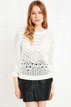 Cooperative Aida Pointelle Jumper - Urban Outfitters