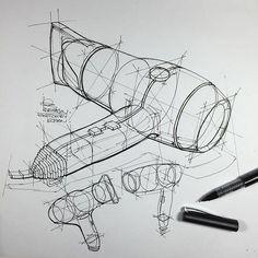 ⠀⠀⠀⠀⠀⠀⠀⠀⠀i r f a n c i f t c i – Product Design Sketch , hair dryer technical exercises. faber castell roller ⠀⠀⠀⠀⠀⠀⠀⠀⠀i r f a n c i f t c i – Product Design Sketch , hair dryer technical exercises. Faber Castell, Academic Drawing, Object Drawing, Drawing Drawing, Industrial Design Sketch, Sketch Design, Pen Design, Design Lab, Design Concepts