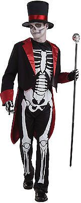 Teen Boys (up to chest size 40) Mr. Bone Jangles Teen Costume - Halloween Costum