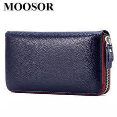 11.99$  Buy now - http://alixiw.shopchina.info/go.php?t=32786921122 - 2017 Fashion Genuine Leather Wallet Women Lady Long Wallets Women Purse Female 4 Color Women Wallet Card Holder Day Clutch DC130  #buyininternet