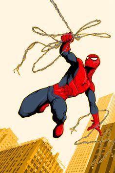"unicornanarchy:  "" Spider-Man by rodavlasalvador  """
