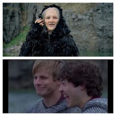 Merlin as The Dolma- Bradley and Alexander's faces say it all lol! I was laughing so hard I was crying XD