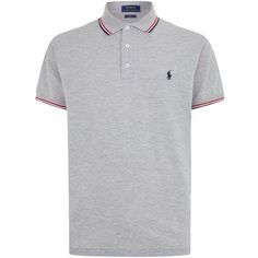 Polo Ralph Lauren Stripe Trim Classic-Fit Polo Shirt (1.446.500 IDR) ❤ liked  on Polyvore featuring men s fashion 9966d9c4dd7c