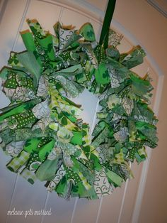 With Valentine's Day over, I figured I'd dive right in to St. Patrick's Day. Here is the next wreath that will be replacing my hearts o...